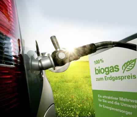 Zapfhahn an der Biogastankstelle