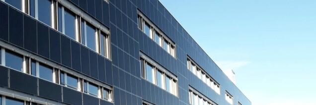 Die Solarfassade der Handwerkcity K3