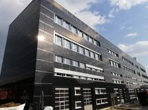 Gebäude mit Solarfassade