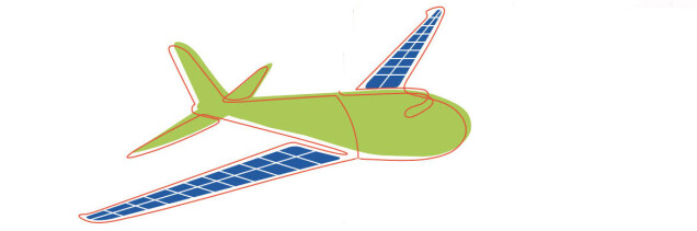 Illustration Solarflugzeug